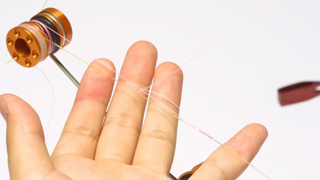 ラインが直線なので編みが簡単。